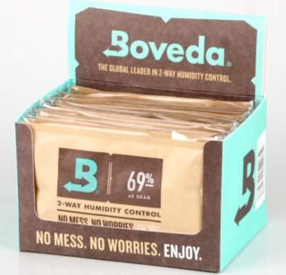 Boveda Set 12x Humidipak 2-way Humidifer groß 69%