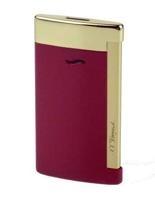 S.T. Dupont Feuerzeug Slim 7 Flat-Torch-Jet-Flamme rot gold 027707