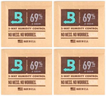Boveda Set 4x Humidipak 2-way Humidifer klein 69%
