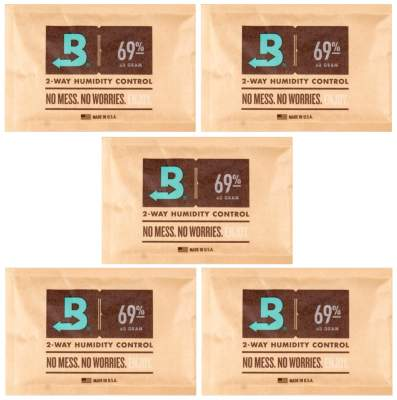 Boveda Set 5x Humidipak 2-way Humidifer groß 69%