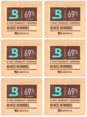 Boveda Set 6x Humidipak 2-way Humidifer klein 69%