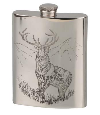 Flachmann English Pewter Zinn Hirsch 6oz/180ml