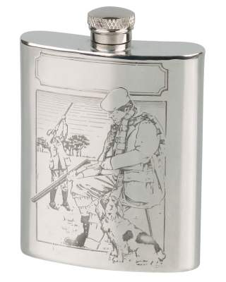 Flachmann English Pewter Zinn Jagd 6oz/180ml