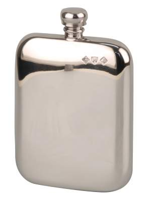 Flachmann English Pewter Zinn poliert 5.5oz/165ml