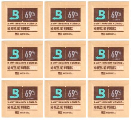 Boveda Set 9x Humidipak 2-way Humidifer klein 69%
