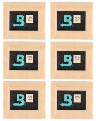 Boveda Set 6x Humidipak 2-way Humidifer klein 72%