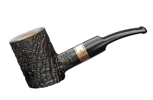 Rattray's Distillery Pfeife sandblast black 128 Cherrywood