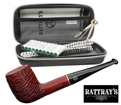 Rattray's Joy Sandblast 113 - Pfeifen Starter Set Billiard
