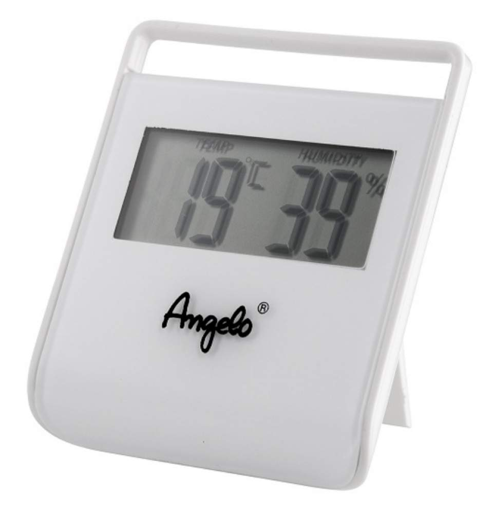 Angelo Digital Hygrometer Thermometer weiß