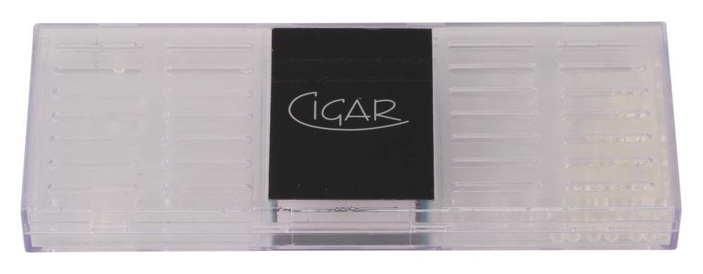 Cigar Polymerbefeuchter eckig gross transparent